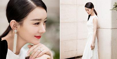 赵丽颖产后复出!白色长裙亮相优雅十足状态满分