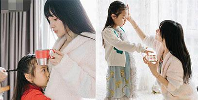 李小璐为甜馨庆祝7岁生日 母女合照温馨有爱