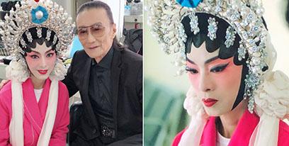 65岁米雪晒京剧造型 与谢贤同框无岁月痕迹